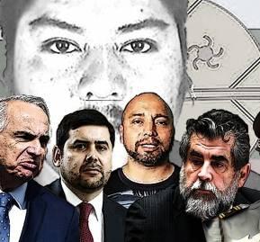 De izquierda a derecha: Andrés Chadwick, Cristián Paredes, Carlos Alarcón, Rodrigo Ubilla, Mauro Victtoriano, Hermes Soto