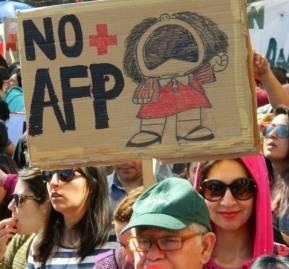 Foto referencial. Marcha nacional contra las AFP, marzo 2019