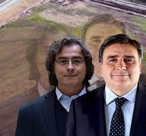 El consejero regional José Agustín Olavarría y su hermano Mario Olavarría, alcalde de Colina.