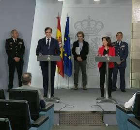 Los ministros españoles de Sanidad, Defensa, Interior y Transportes anuncian medidas específicas. Foto: Cope