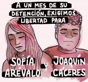 Afiche realizado por @batatu.cl en solidaridad con los detenidos