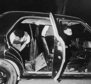 El automóvil en que viajaba Guzmán