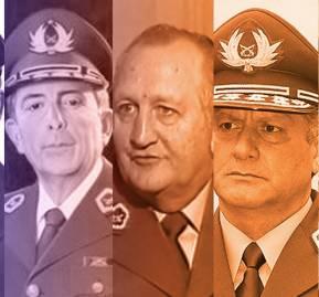 (De izquierda a derecha) Fernando Cordero Rusque, Manuel Ugarte Soto, Rodolfo Stange Oelckers, Bruno Villalobos Krumm y Alberto Cienfuegos Becerra.