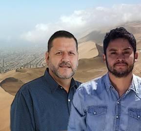 Marco Pérez (Ind. PPD) y José Carvajal (Comunes); candidatos a la gobernación regional de Tarapacá.
