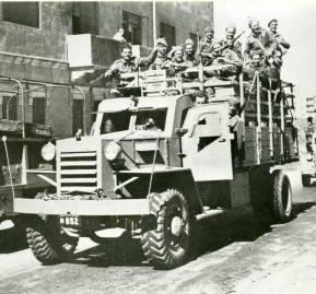 La organización sionista Haganah en Jerusalem