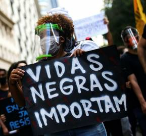 Black Lives Matter en Rio de Janeiro, Brazil © Getty Images
