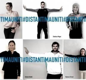 Campaña de distanciamiento social frente al coronavirus, en Italia