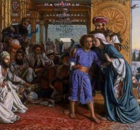 El hallazgo del Salvador en el Templo, de William Holman Hunt.  William Holman Hunt via Wikimedia Commons.