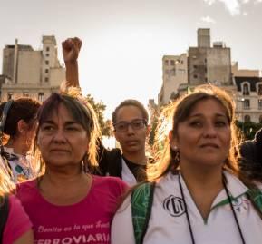 Huelga feminista en Buenos Aires / Karina Aliaga / Migrar Photo