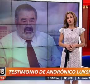 Marzo del 2016 cuando Luksic ofrecía su testimonio a Canal 13 sin transparentar que era su dueño