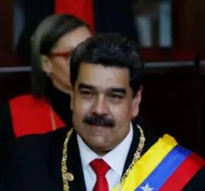 El presidente venezolano Nicolás Maduro en su ceremonia de juramentación en la Corte Suprema de Caracas, Venezuela, jueves 10 de enero de 2019. Foto AP / Ariana Cubillos