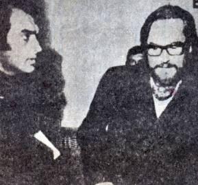 Miguel Sessa y un irreconocible Roberto Thieme pidiendo asilo político en Mendoza en mayo de 1973