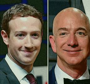 Bill Gates, Mark Zuckerberg y Jeff Bezos