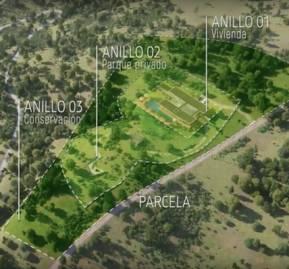 """Las parcelas y los """"anillos de conservación"""" considerados en el proyecto."""