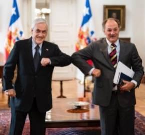 Sebastián Piñera y Juan Sutil - Crédito: Confederación de la Producción y del Comercio.