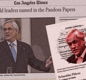 Portada de Los Angeles Times y foto en artículo del The Washington Post