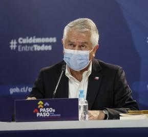 Ministro de Salud, Enrique Paris. Foto: Alejandra De Lucca V. / Minsal 2020