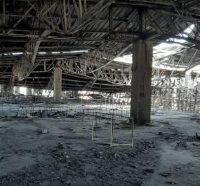 Fotografía tomada desde el segundo piso de la bodega de Kayser, donde se encontraron los cuerpos fallecidos luego del incendio. Foto: Interferencia
