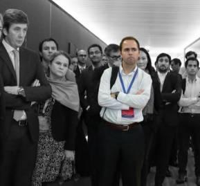 Juan Turner Fabres, abogado y socio de Cristóbal Piñera durante actividad de ProChile en abril pasado. Foto: Flickr ProChile