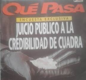 Una de las tantas portadas con el tema de Qué Pasa, el semanario que abrió el caso