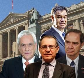 Sebastián Piñera, Raúl Mera, Hernán Larraín. Manuel José Ossandón arriba