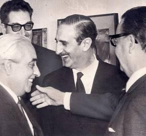 Salvador Allende con Rafael Tarud y Rafael Agustín Gumucio.