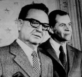 Salvador Allende y Patricio Aylwin.