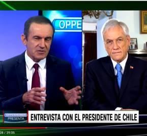 Andrés Oppenheimer entrevista a Sebastián Piñera en CNN en español