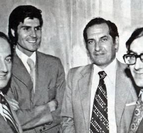 Sergio de Castro, Sergio de la Cuadra, Pablo Baraona y Álvaro Bardón.