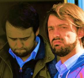 Paulo Gómez (a la izquierda) y Jorge Sharp (a la derecha)