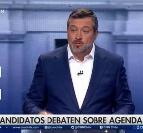 Sebastián Sichel en el debate de Chilevisión en conjunto con CNN.
