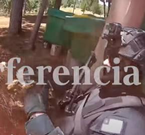 Captura de pantalla de video que muestra problemas tácticos del operativo de Temucuicui