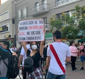 Protestas en Perú. Fotografía Paula D'Angelo