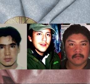 De izquierda a derecha: Jaime Mendoza Collio, Alex Lemun, Matías Catrileo y Camilo Catrillanca