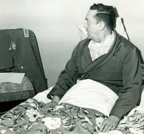 Viaux convalesciente en el dormitorio de su casa. Allí siguió complotando.