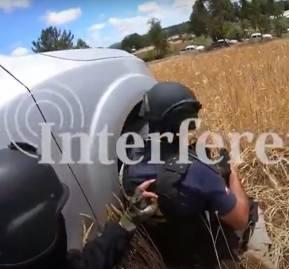 Cuadro de imagen del video del comando táctico revelado por INTERFERENCIA
