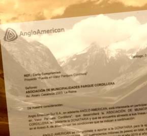 Foto del río Olivares y del convenio suscrito entre Anglo American y la APC