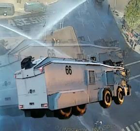 El lanza aguas de 8 ruedas LA-66. Imágenes cortesía del medio Piensa Prensa