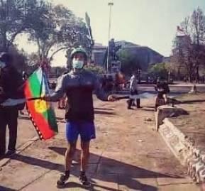 Protestas en Plaza Dignidad. Vía @Murosyresisten