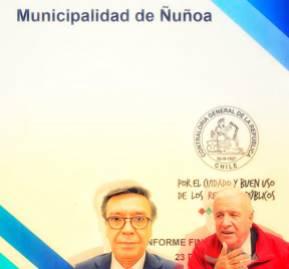 A la izquierda, el abogado Bornand. A la derecha, el alcalde de Ñuñoa, Andrés Zarhi