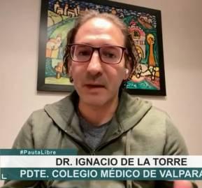 La entrevista al presidente regional del Colmed de Valparaíso,Ignacio de la Torre, fue el escaso aporte de la TV a discutir la crisis sanitaria.