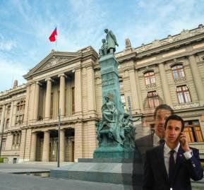 De fondo, la Corte Suprema. En la esquina, ministro de Energía Juan Carlos Jobet
