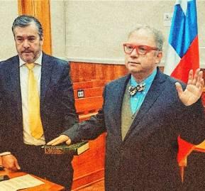Abogado Acuña jurando como juez en Puerto Cisne. Fuente: Poder Judicial
