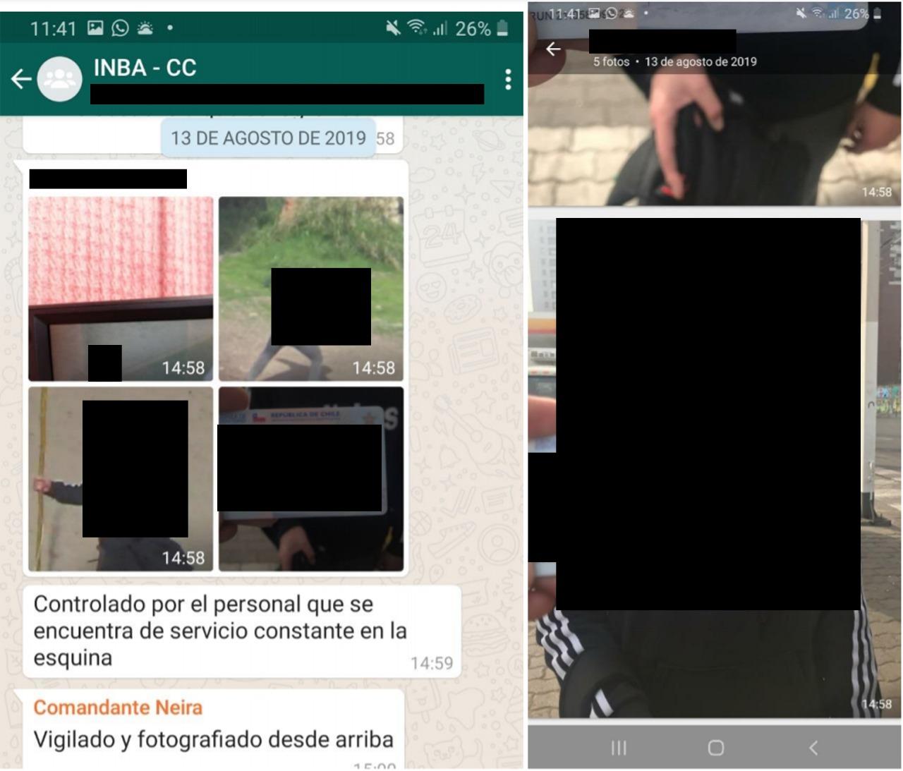 Fotografías enviadas por Carabineros, donde destaca el carné de identidad de un menor detenido