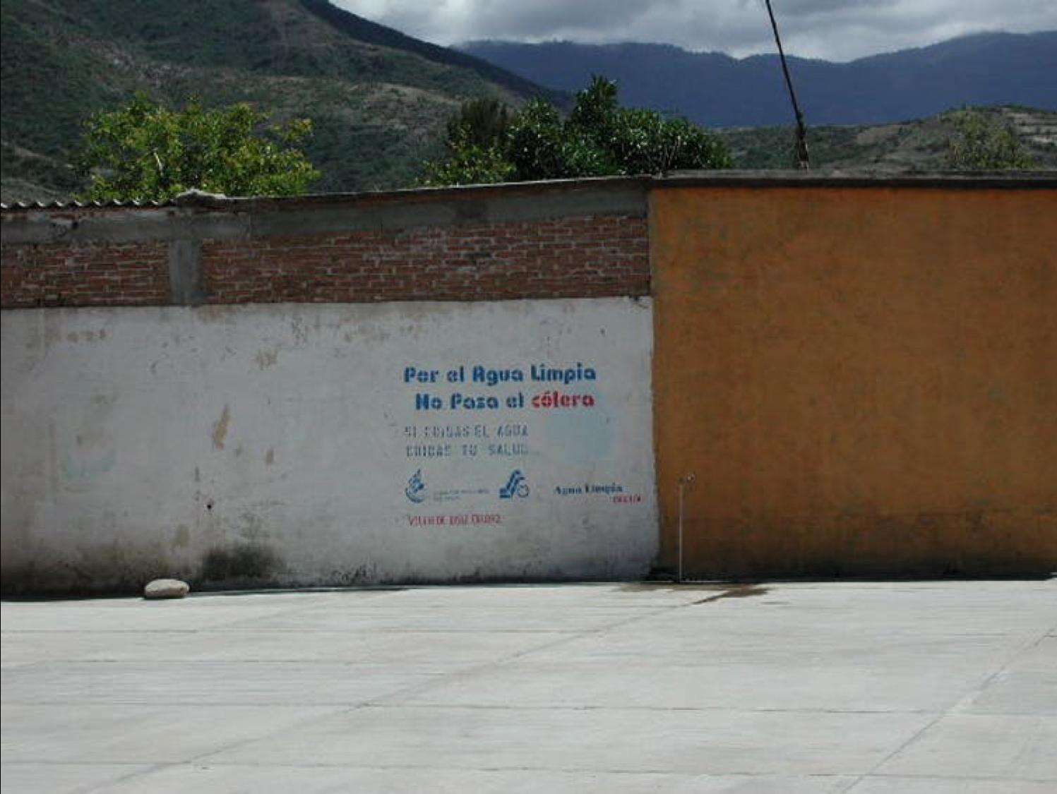 Una campaña contra el cólera promoviendo el agua potable en Oaxaca. Jeffrey H. Cohen