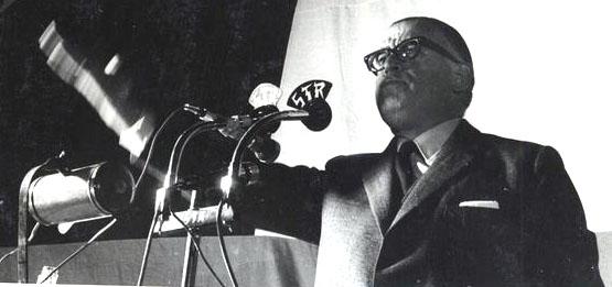 Tomic hablando en la campaña. Foto de Sonia Aravena. Biblioteca Nacional