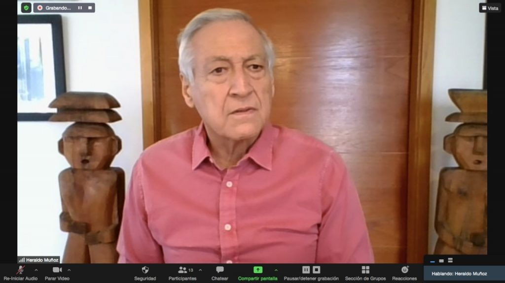 Heraldo Muñoz, ex Canciller de Chile y actual candidato presidencial