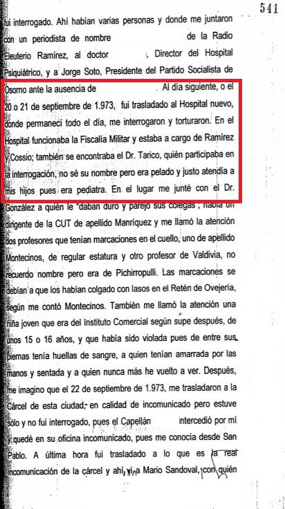 Declaración policial de R.T.T. Hay nombres que están borrados por razones de seguridad.