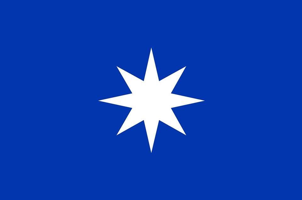 Representación de la wüñelfe, estrella de 8 puntas.